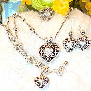 "Brighton ""RENO HEART Rare 4 Piece Jewelry set"
